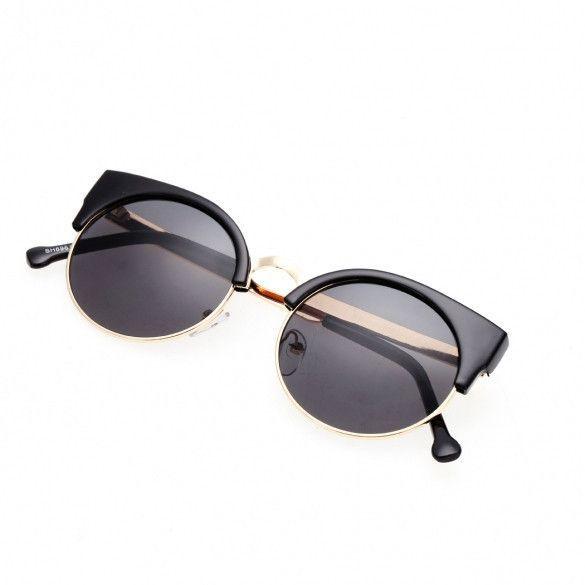 af0b4552c73 Hot Fashion Women Classic Retro Vintage Style Fashion Circle Round Lens  Sunglasses UV400