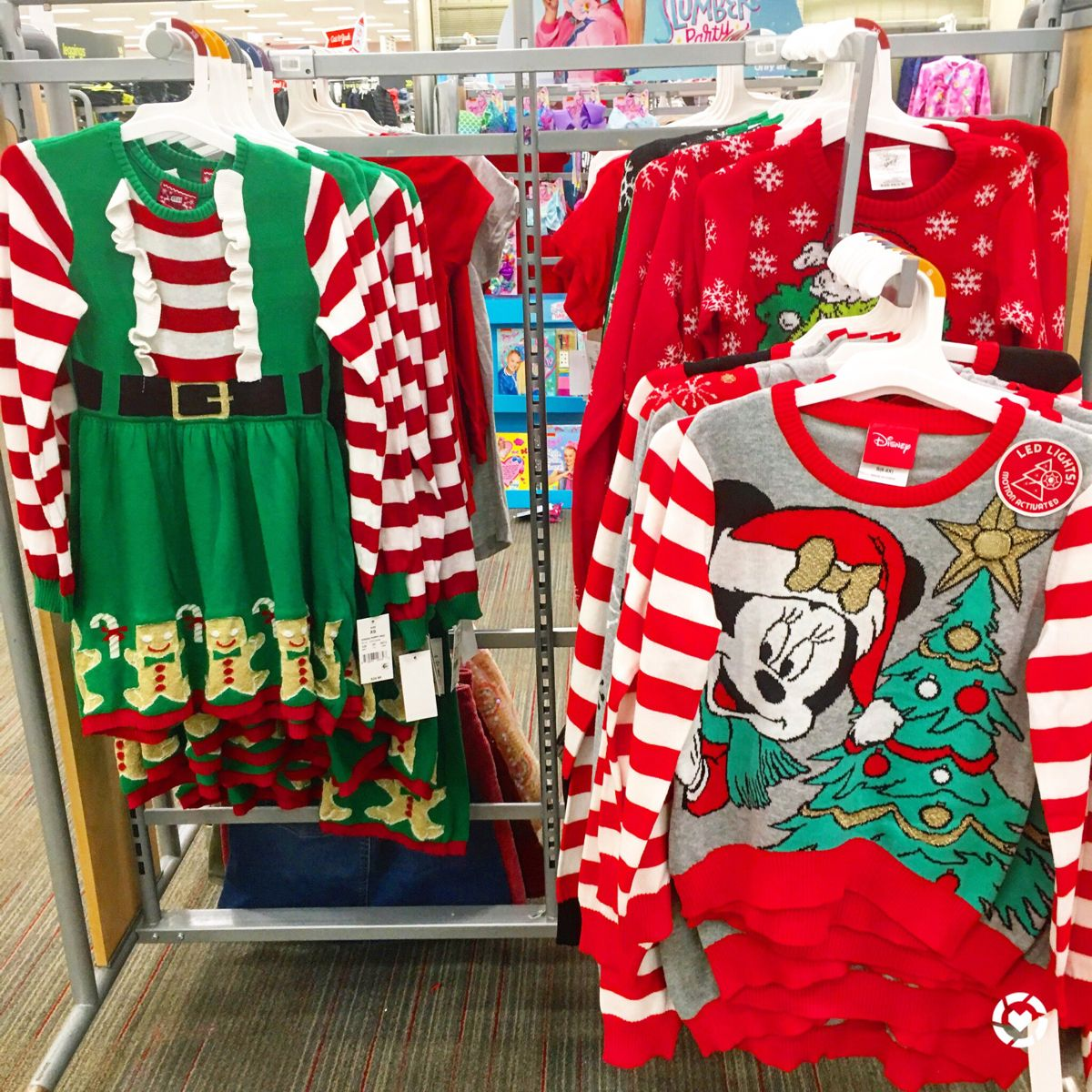 Girls Christmas Dresses and Sweaters. Cute. Fashion. #christmas #fashion #christmasstyle #uglychristmassweater #minnie #grinch #target #targetfinds #targetstyle #kidsstyle