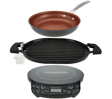 Nuwave Induction Cooktop Flex W Cast Iron Grill 9 Fry Pan K45910 Induction Cooktop Cooktop Cast Iron Grill