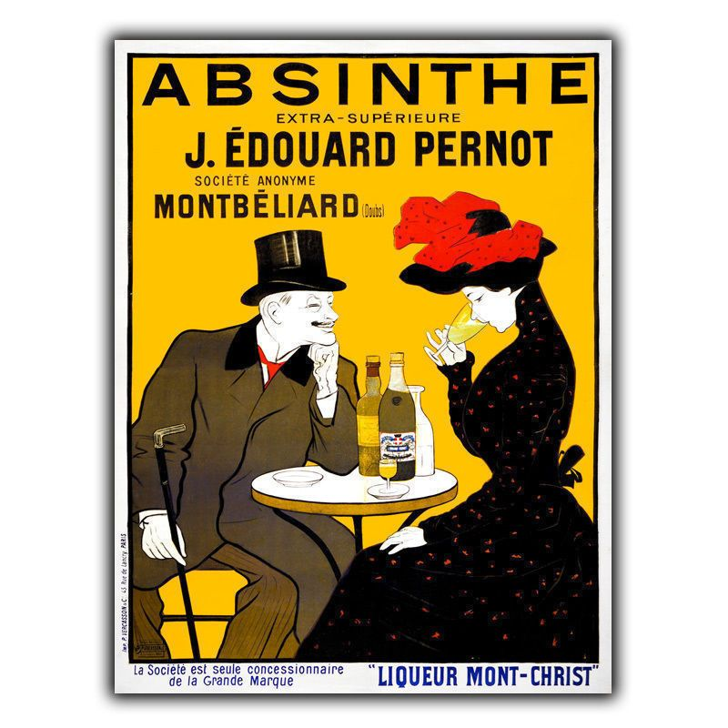 Absinthe French Advertising Metal Sign Wall Plaque Retro Print