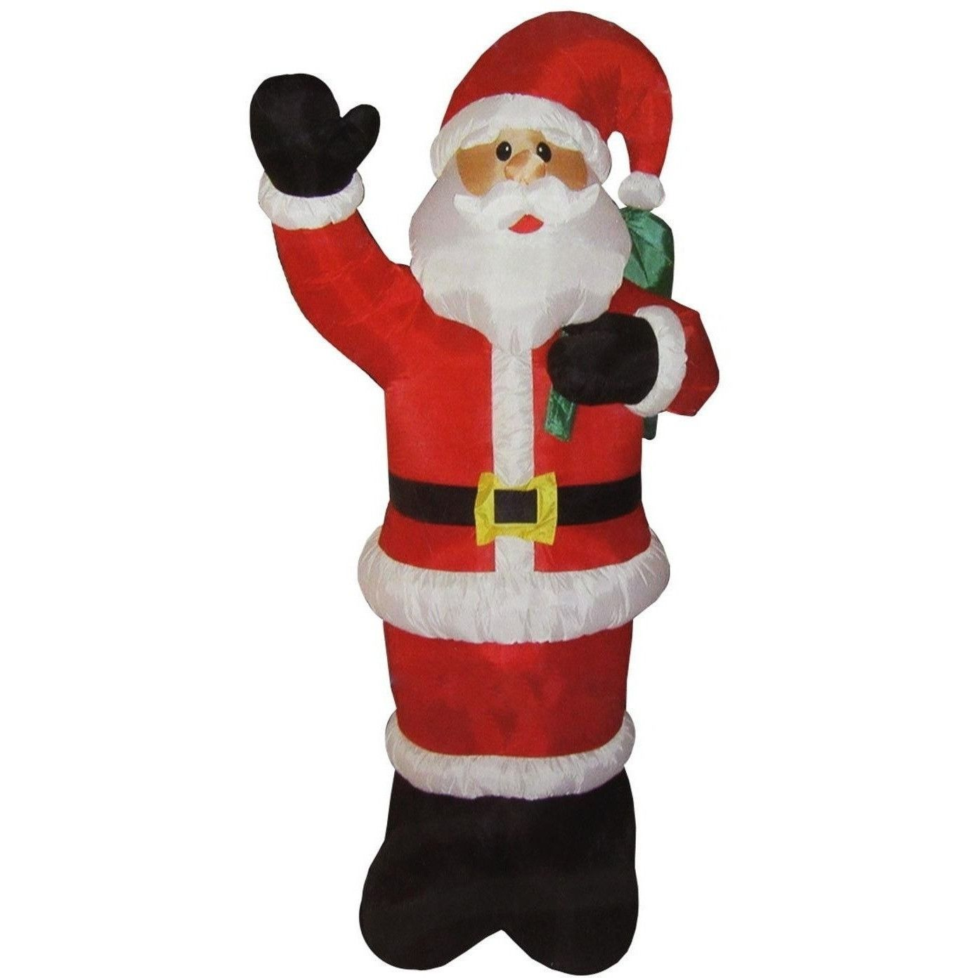 LB Int\'l 8\' Inflatable Lighted Standing Santa Christmas Yard Décor ...
