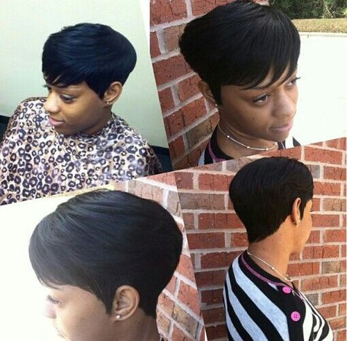 Short 27 Piece With Swoop Quick Weave Hairstyles Weave Hairstyles 27 Piece Hairstyles