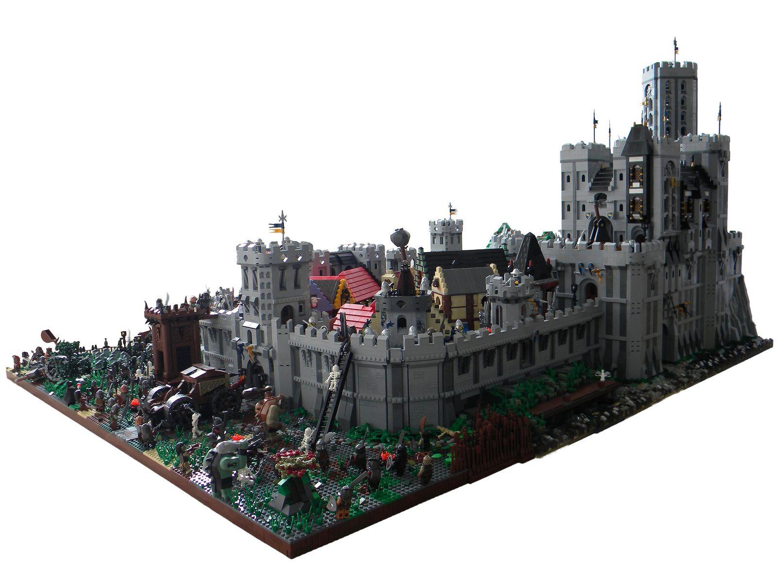Blue Crowns Castle Siege Insane Original Lego Creations Lego
