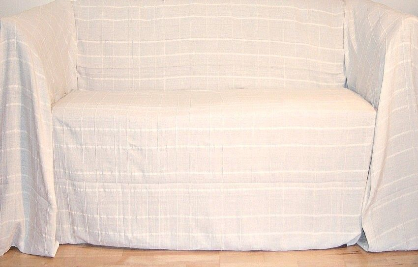 100 Cotton Natural Cream 2 Seater Sofa Throw 180 X 230 Cms By Colour Throws