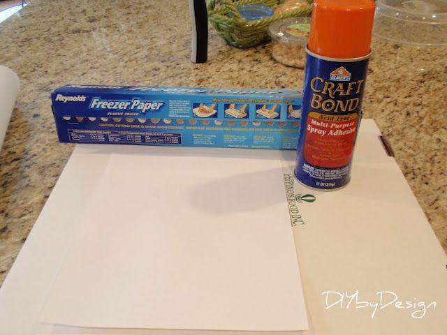 DIY by Design: Freezer Paper Fabric Transfer Tutorial but