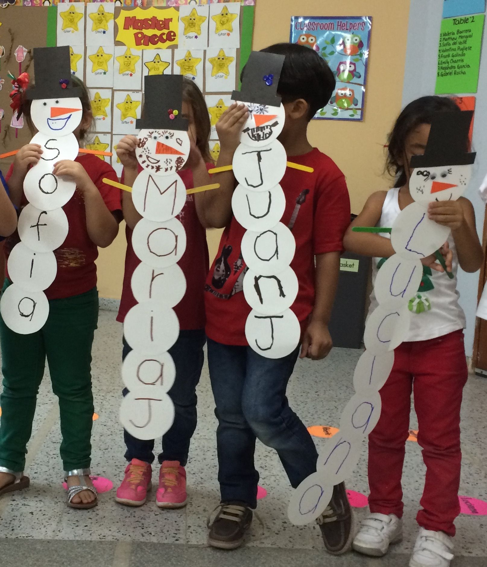Building A Snowman Christmas Activity To Learn How To