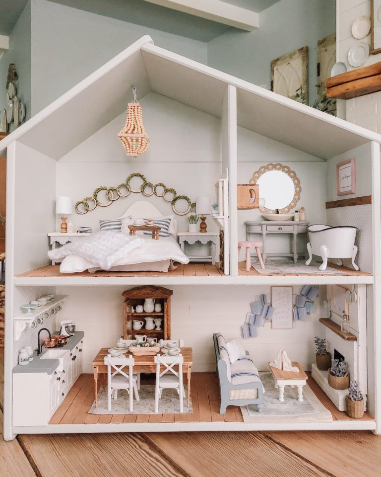 The cotton stem dollhouse doll 39 s house doll furniture barbie house e diy dollhouse for Ikea casa bambole