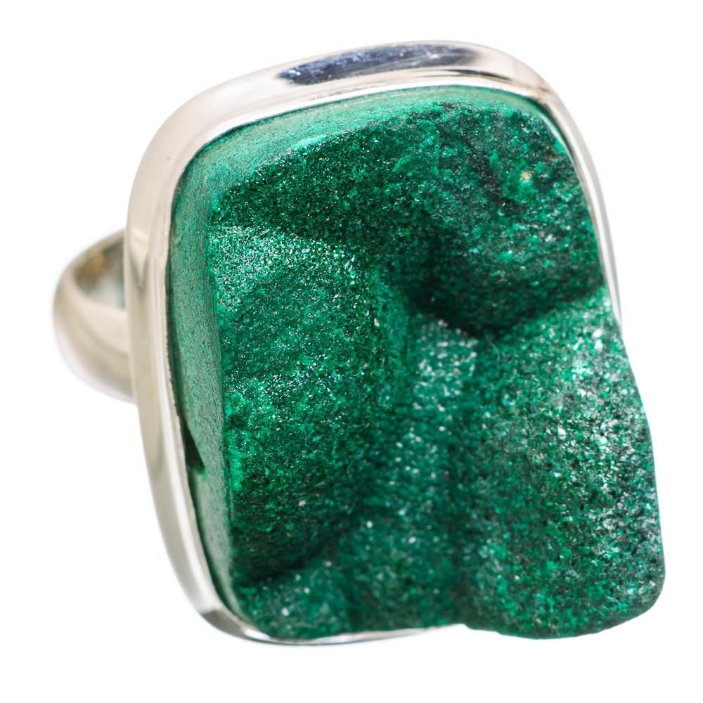 Ana Silver Co Malachite Druzy 925 Sterling Silver Ring Size 7.5 RING839629