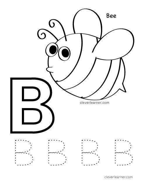 B is for Bee letter practice worksheet for preschool children – Bee Worksheets