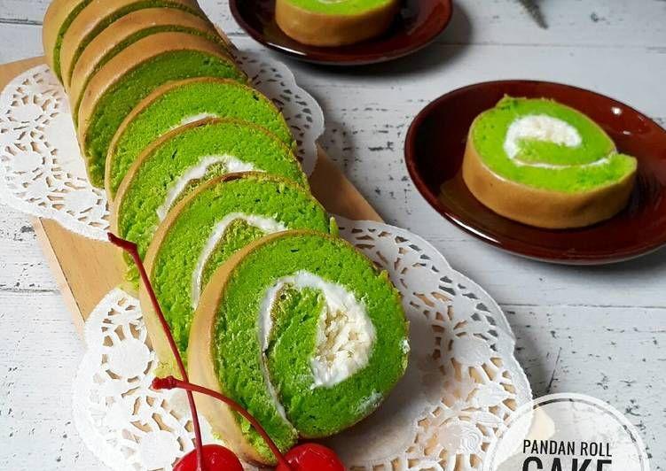 Resep Pandan Roll Cake Bolu Gulung Pandan Super Lembut Oleh Sukmawati Rs Resep Kue Gulung Bolu Pandan Makanan Dan Minuman