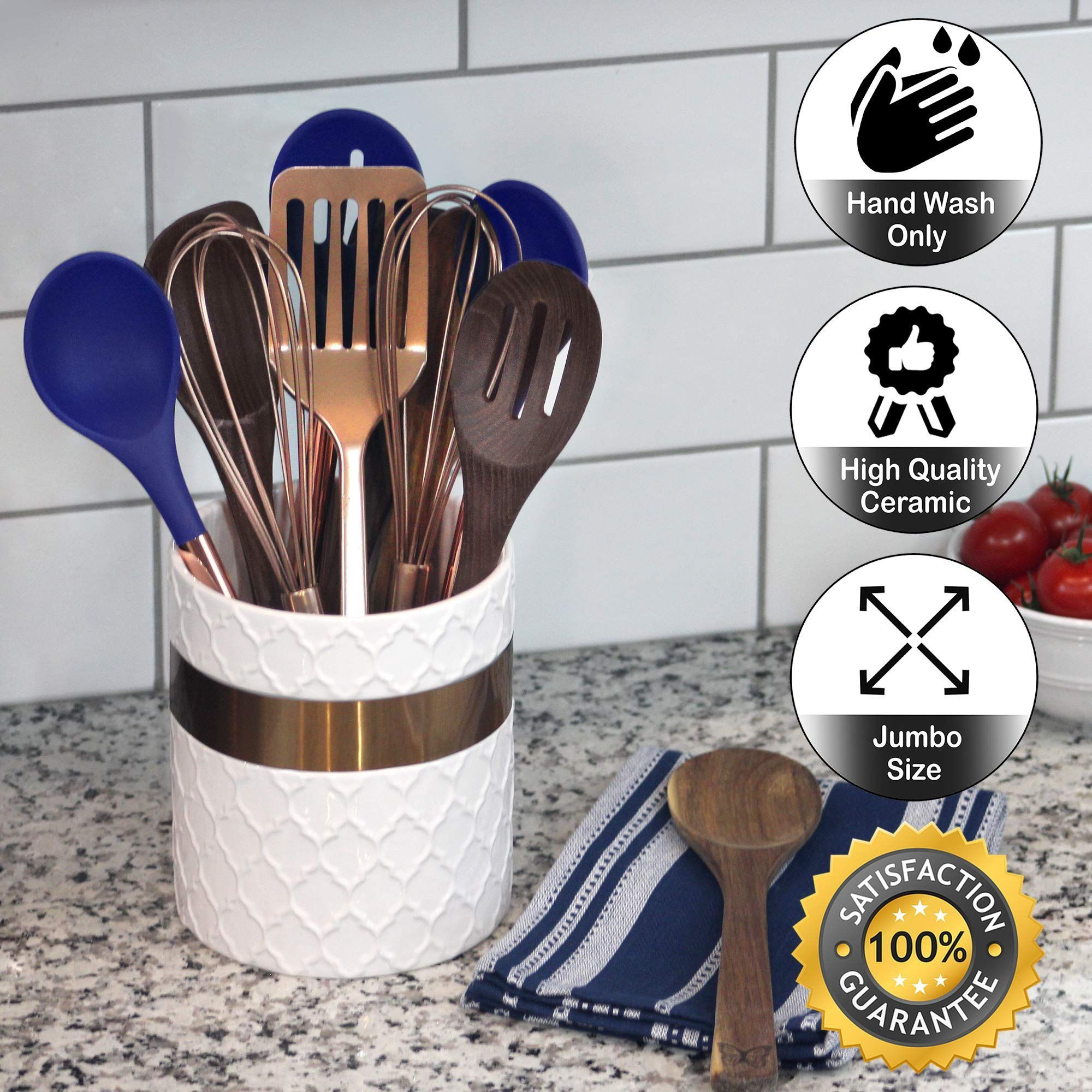 a comprehensive overview on home decoration in 2020 utensil holder farmhouse kitchen decor on farmhouse kitchen utensils id=59259