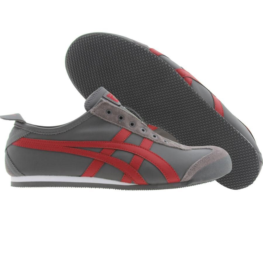 newest d6996 3b216 Asics Onitsuka Tiger Mexico 66 Slip-On LE (grey   red) D1B2K-1123 -  84.99