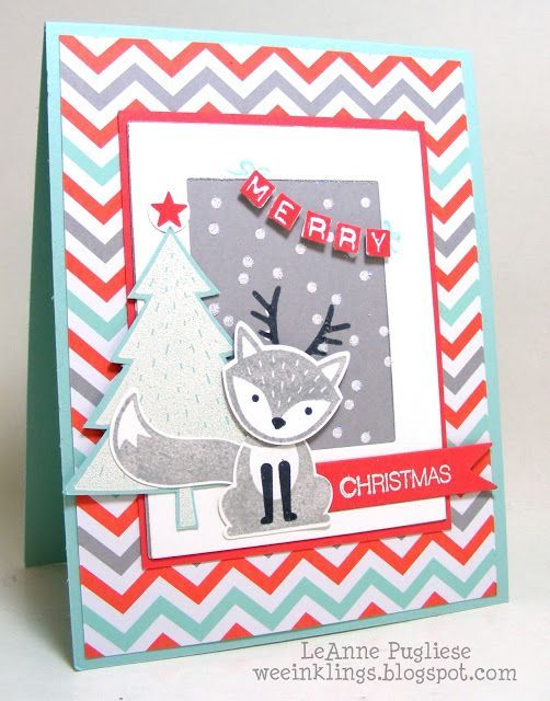 wee inklings: TSOT 276 Foxy Christmas - SU - Christmas, Foxy Friends, Holly Jolly Greetings, Labeler Alphabet, Stampin Up, Try Stampin on Tuesday: