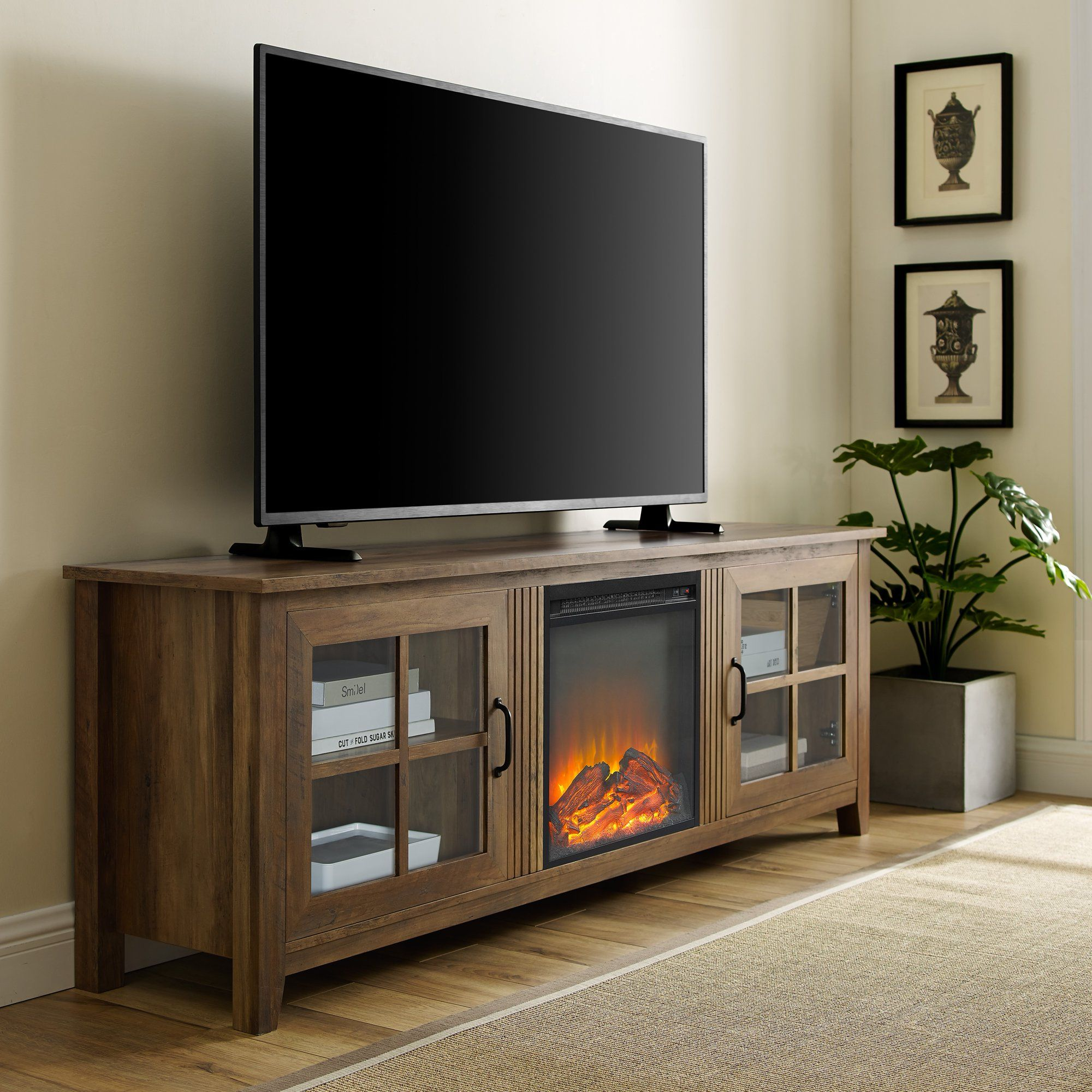 16+ Modern farmhouse tv stand with fireplace inspiration