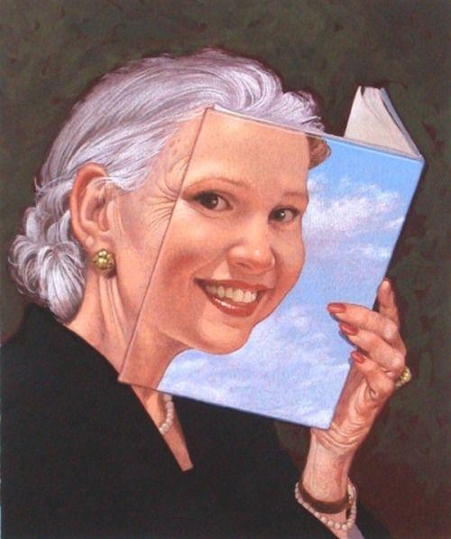Con la lectura siempre estarás joven (ilustración de C.F.Payne)