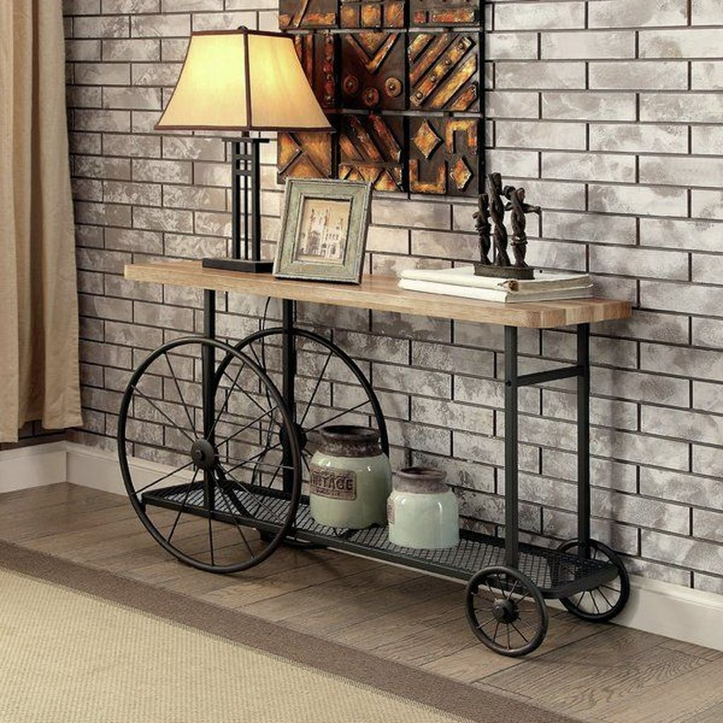 45 The Best Decorations Industrial Style Living Room That Will Amaze Your Guests In 2020 Industrial Console Tables Industrial Sofa Table Industrial Livingroom