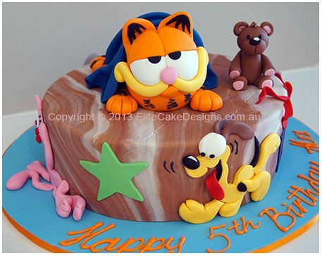 Garfield and friends kids Birthday Cake Ss 1st Birthday