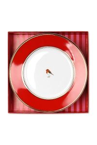 PiP Love Birds Giftbox Cake Plates Red/Pink