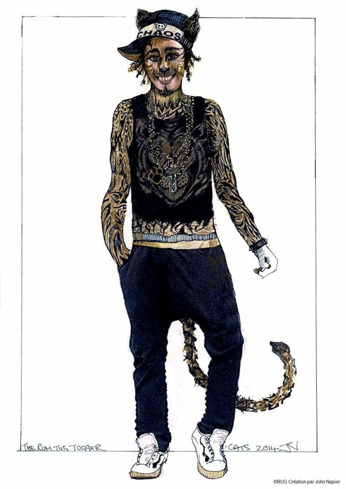 Street Cat Tugger costume design