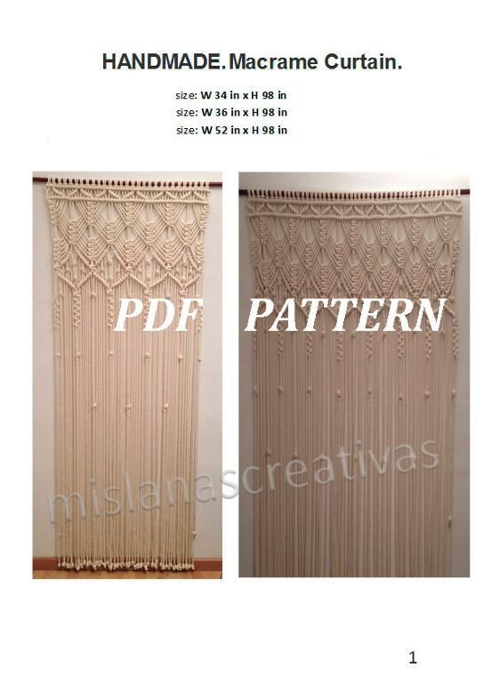 Pdf Instructions Macrame Curtain In 2018 Macrame Pinterest