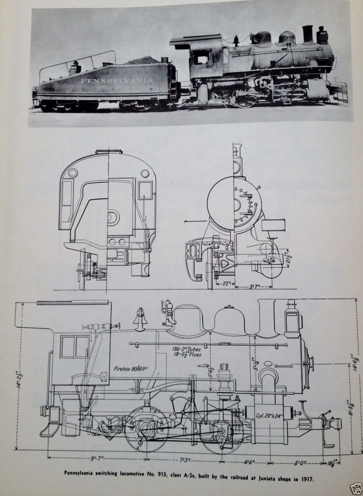 Steam Locomotive Diagram Illustration Schematic Pennsylvania ...