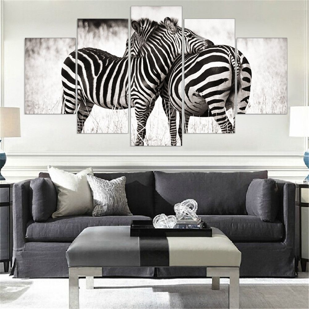 Black and White Zebra Canvas Wall Art | accesorios home | Pinterest ...