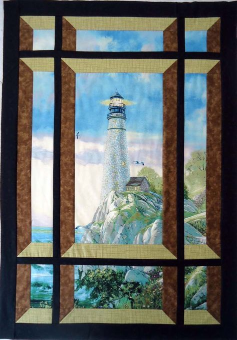 Modern Window Quilt Pattern Bs2 421 Quilted Wall Hanging