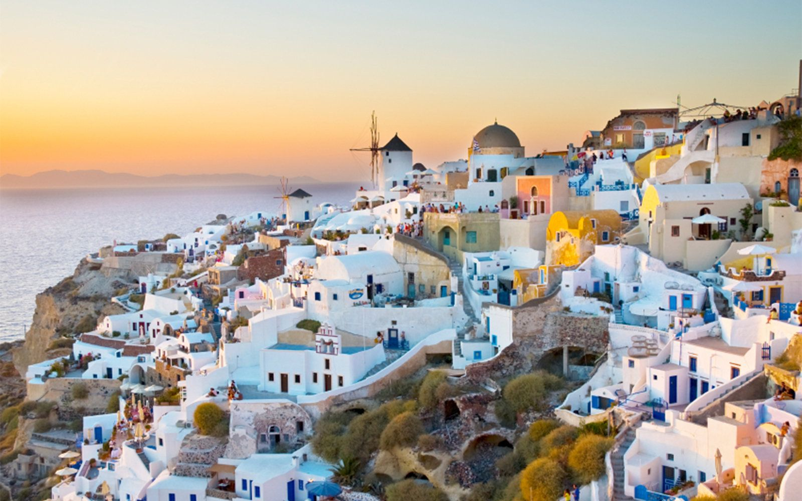 Another beautiful coastal shot of the idyllic Santorini--one of our readers' favorite islands in Europe--and the world!
