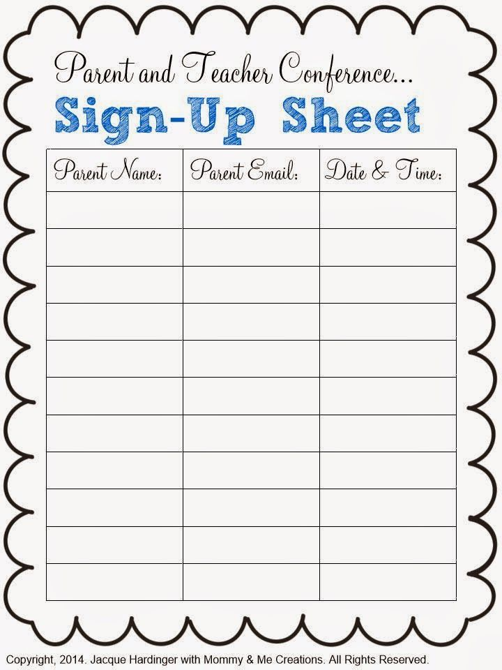Parent and Teacher Conference Freebie PTA Pinterest Teacher