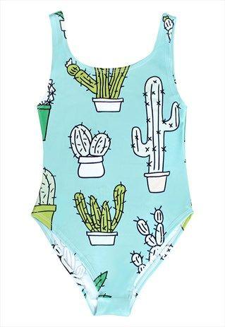 e4b7a74ce0751 Cactus one-piece | Summer!! ☀ in 2019 | Cactus swimsuit ...