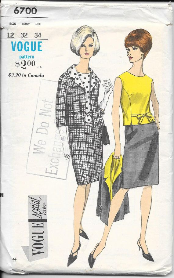 4e825571d Vintage Vogue 6700 Lady s Day Suit Never Used by EACrow on Etsy ...