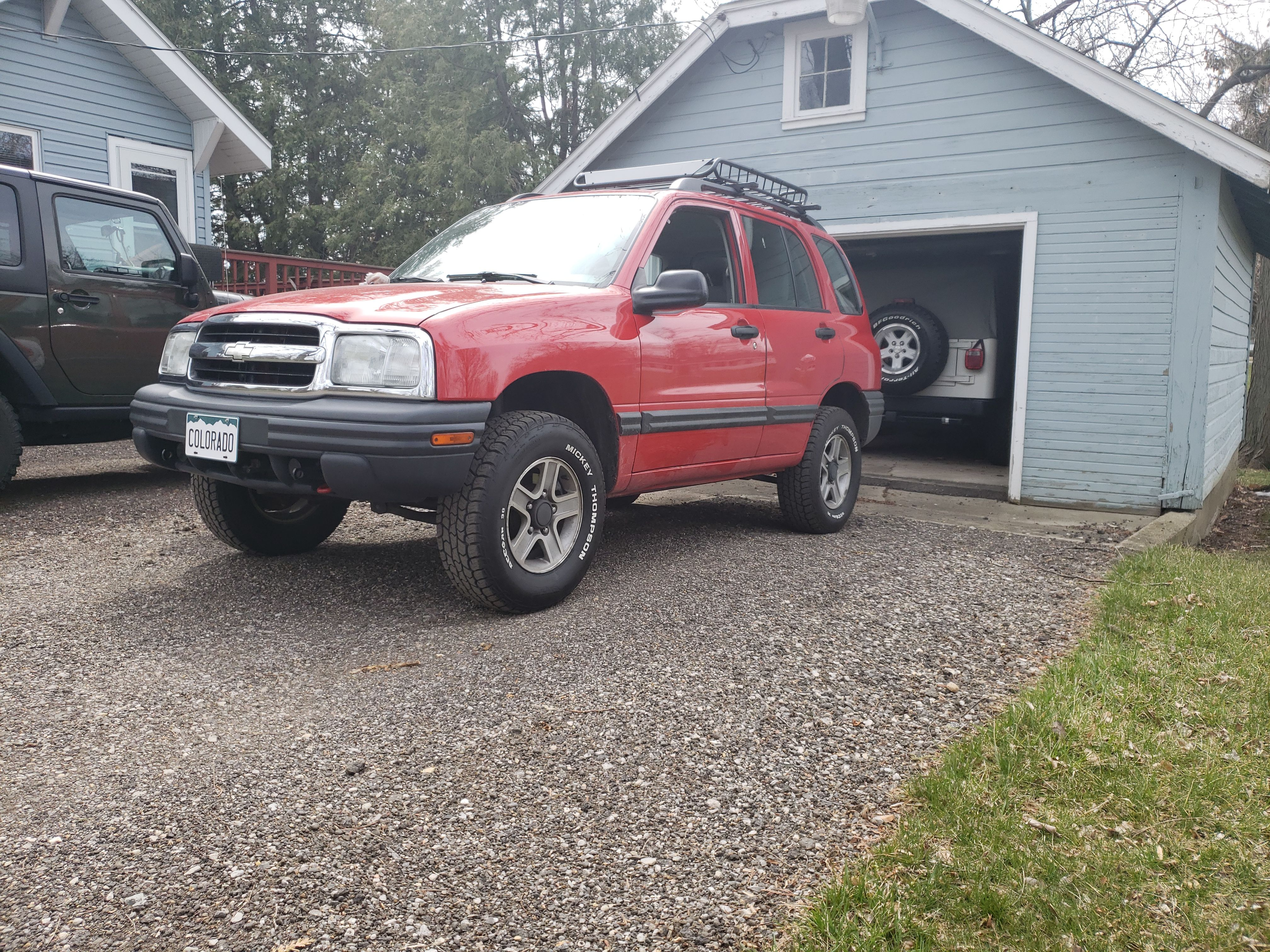 medium resolution of 2003 chevy tracker lifted with 235 mickey thompsons