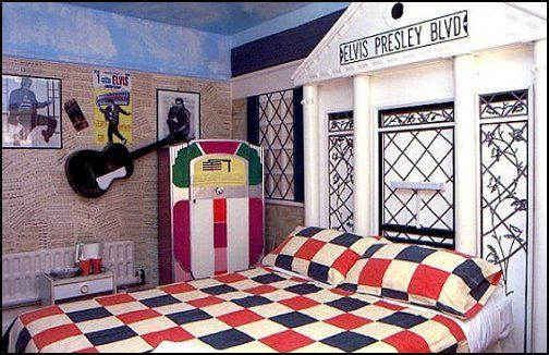 Elvis Presley S Bedroom 50s Bedroom Bedroom Themes Decor
