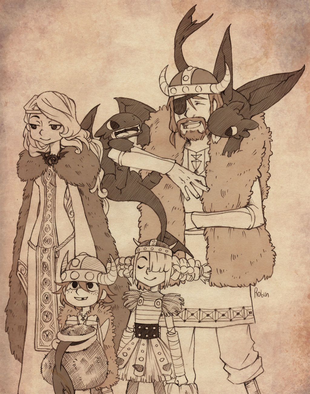 An interesting photo of hiccup astrid their kids and three baby an interesting photo of hiccup astrid their kids and three baby night furies ccuart Image collections