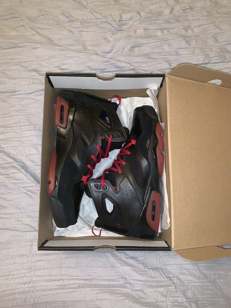 4b8ce675b7f8 Air Jordan Flight Club 91   555475 067 Black Varsity Red Men SZ 11  fashion