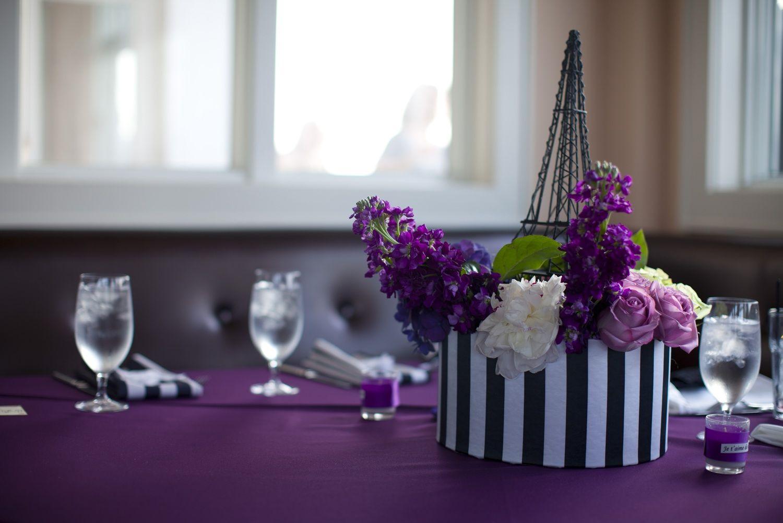 Paris Bridal Shower Theme Purple Black Ivory Wedding