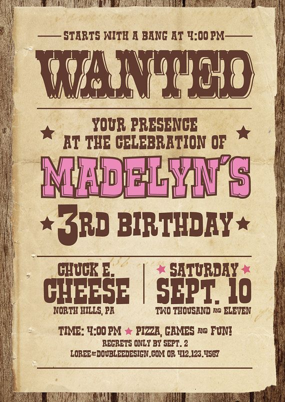 Western theme invitation | Western Minnie Mouse | Pinterest ...