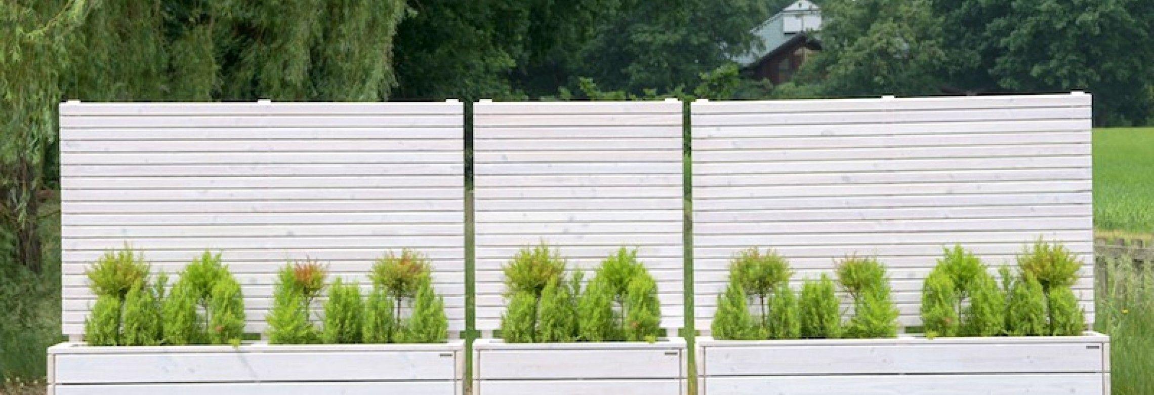 Sichtschutz Pflanzkasten Pflanzkasten Holz Haus Und Garten