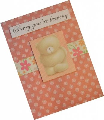 Sorry You/'re Leaving On Your Retirement Fimo Handmade Personalised Card