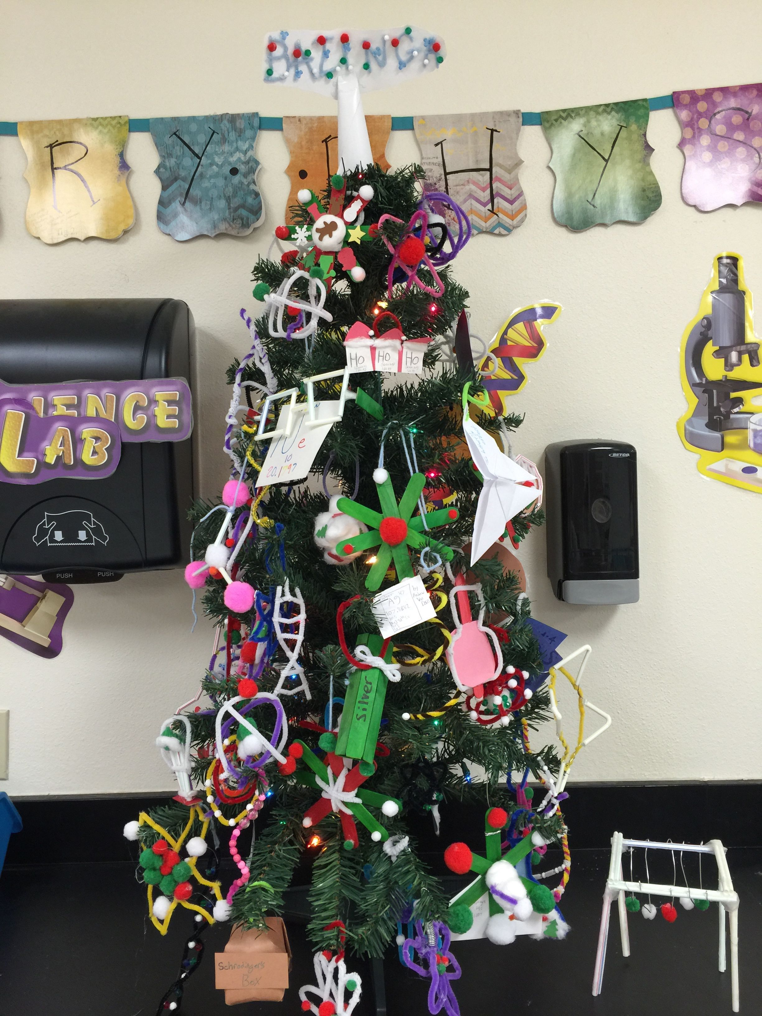 Science Christmas Ornament Project
