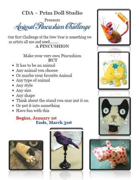 "CDA- Prim Doll Studio 1Q 2014 ""Animal Pincushion Challenge"""