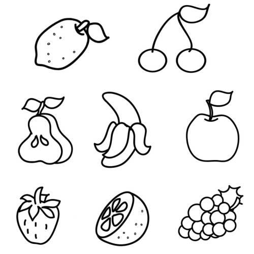 malvorlagen für obst kostenlose malvorlage obst und gemse