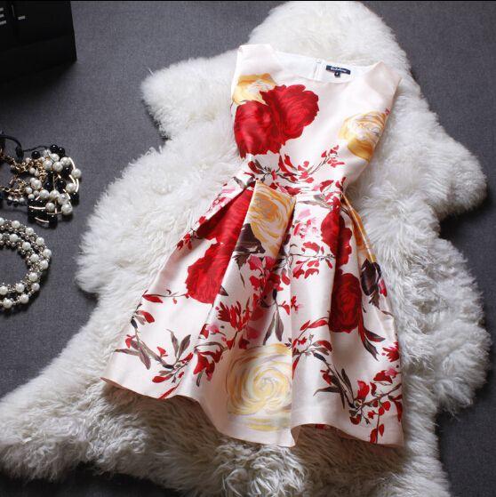 Sweet Printed Sleeveless Dress ER30405PO