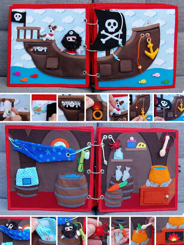 PDF Pattern & tutorial - Quiet book Pirate #instructionstodollpatterns