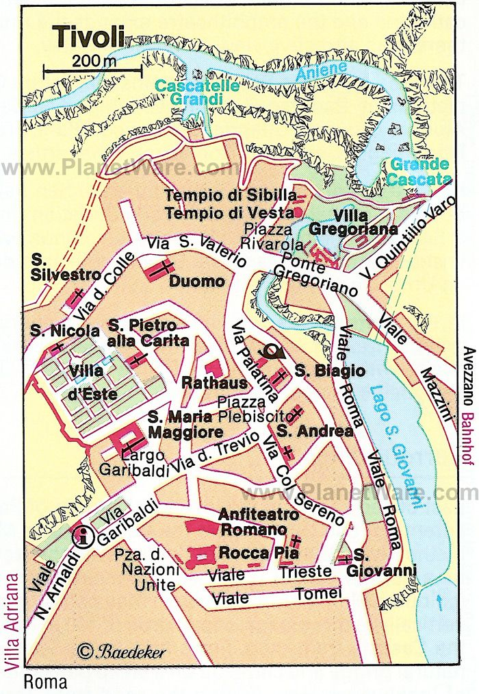 Map of Tivoli Tourist Attractions PlanetWare Scrapbook Layout