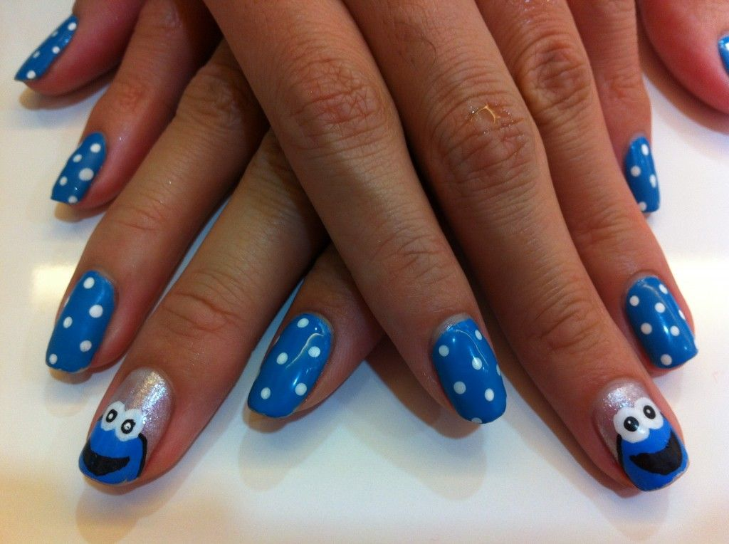 How To Paint Cookie Monster Nail Art The Adult Version My Fat