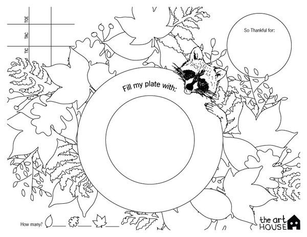 Free Printable Thanksgiving Placemat Thanksgiving Coloring ...