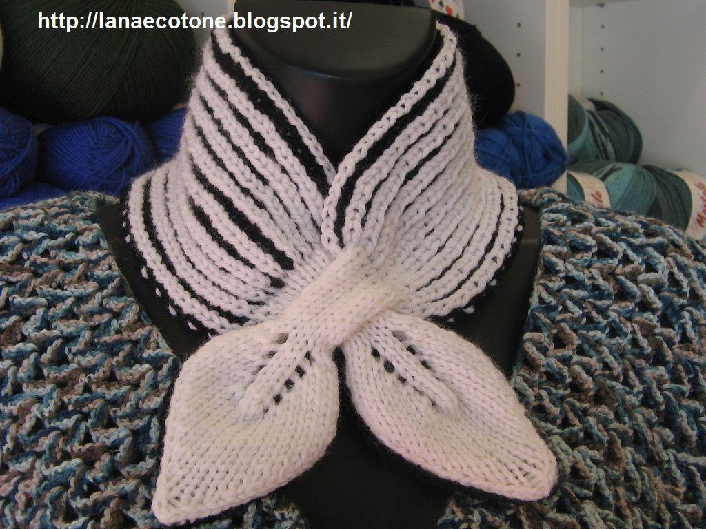 Lana e Cotone (maglia e uncinetto): Collo brioche