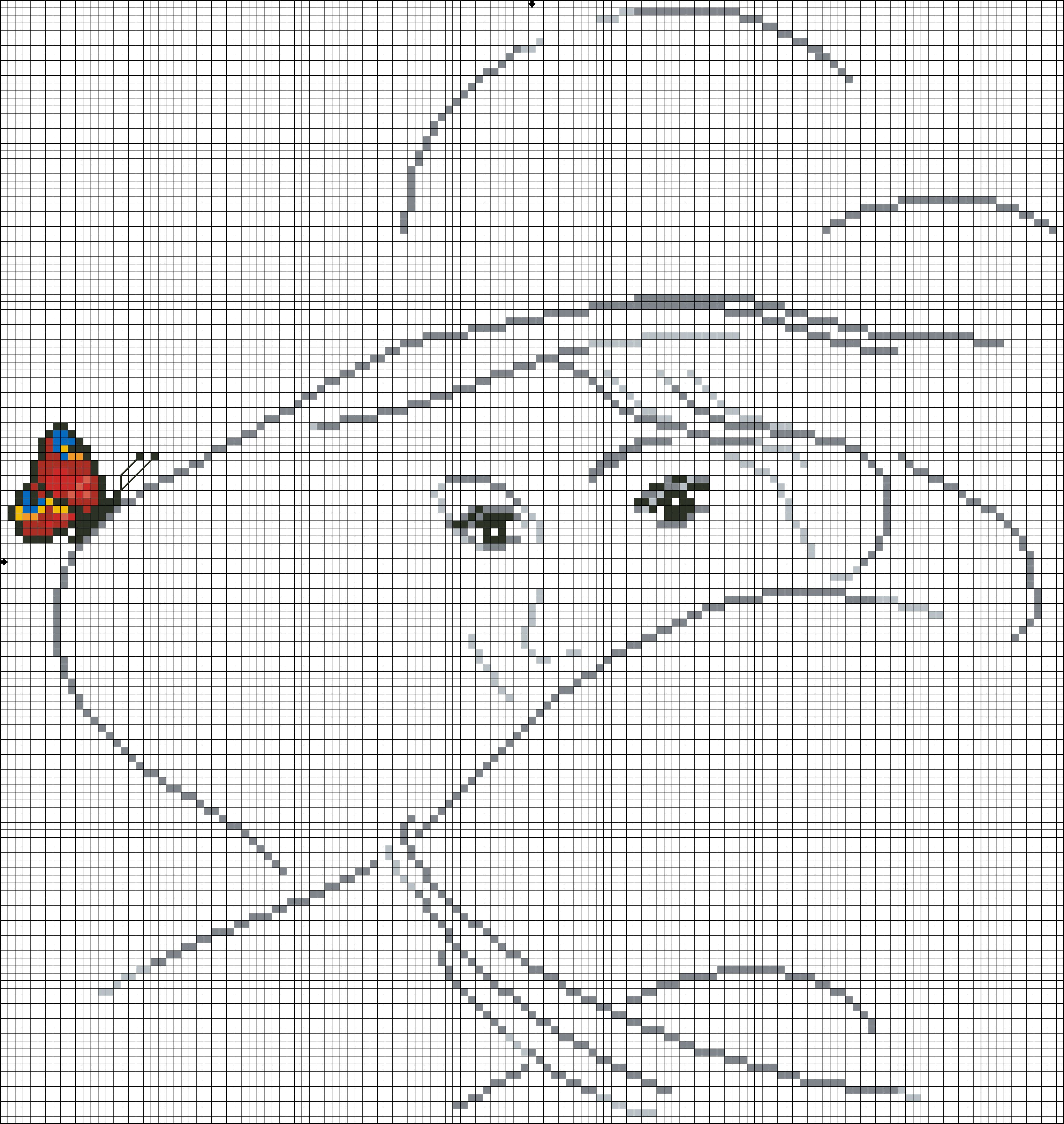 cross stitch chart (no other info) | PONTO CRUZ | Pinterest | Punto ...