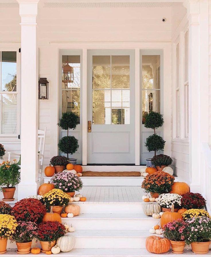 Farmhouse Fall Front Porch Ideas